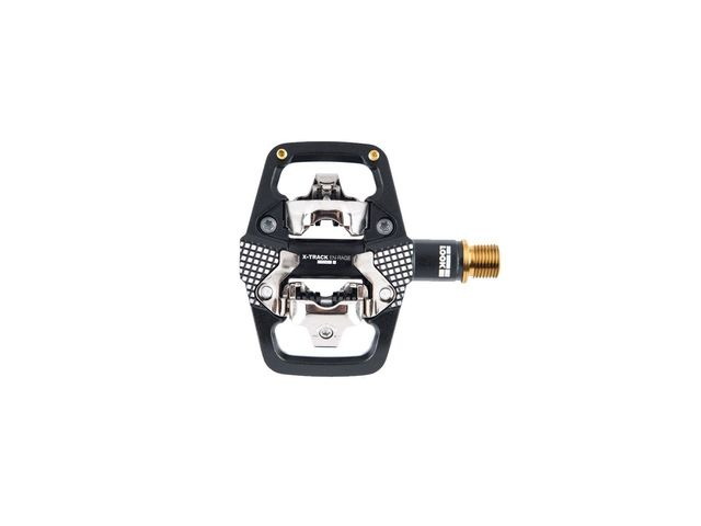 LOOK X-track En-rage Plus Ti MTB Pedals With Cleats: Black/Gold click to zoom image
