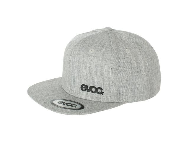 EVOC Snapback Cap Heather Grey One Size click to zoom image