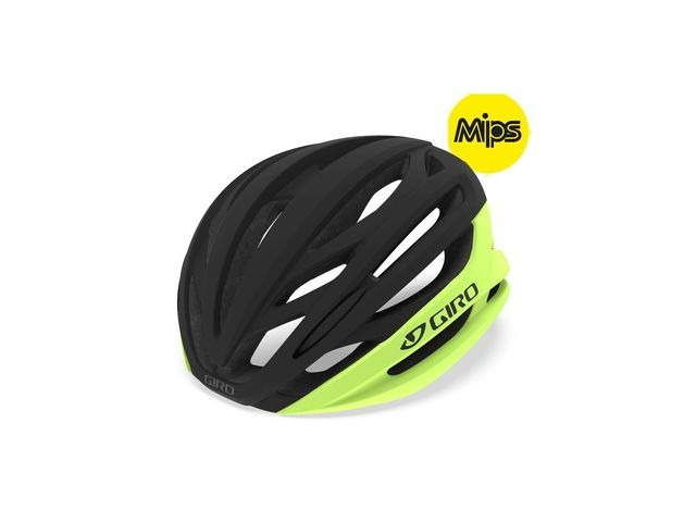 Giro Syntax Mips Road Helmet Highlight Yellow/Black click to zoom image