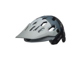 BELL Super 3 MTB Helmet 2019: Downdraft Matte Grey/Gunmetal