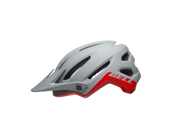 BELL 4forty MTB Helmet 2019: Cliffhanger Matte/Gloss Grey/Crimson click to zoom image