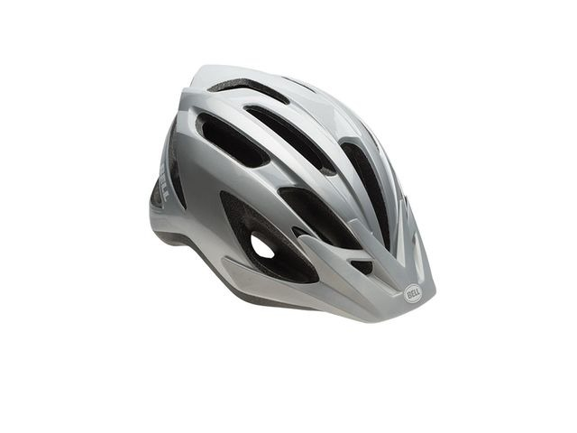 BELL Crest Universal Road Helmet 2018: Grey/Silver Unisize 54-61cm click to zoom image
