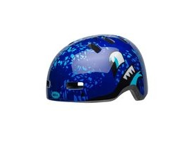 BELL Lil Ripper Children's Helmet 2019: Eyes Gloss Blue Unisize 47-54cm