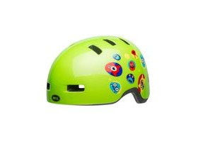 BELL Lil Ripper Children's Helmet 2019: Monsters Gloss Green Unisize 47-54cm