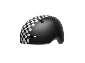 BELL Lil Ripper Toddler Helmet 2019: Checkers Matte Black/White Unisize 45-51cm