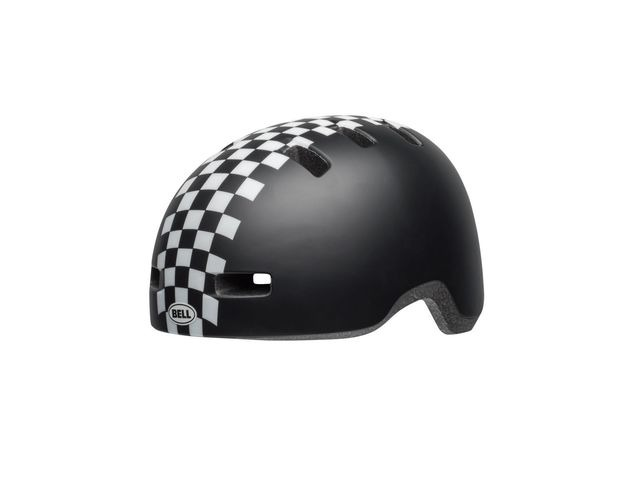 BELL Lil Ripper Toddler Helmet 2019: Checkers Matte Black/White Unisize 45-51cm click to zoom image