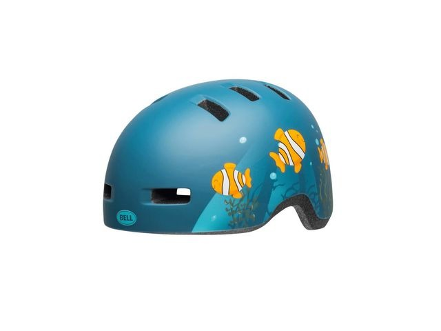 BELL Lil Ripper Toddler Helmet 2019: Clown Fish Matte Grey-blue Unisize 45-51cm click to zoom image