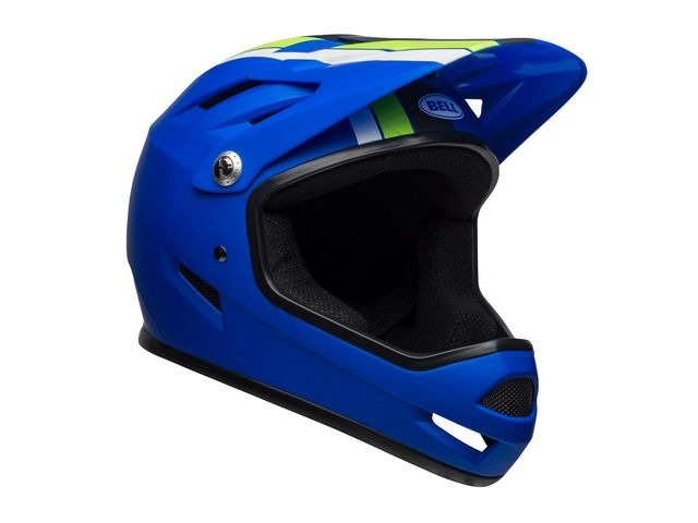 BELL Sanction MTB Full Face Helmet 2019: Agility Matte Blue/Green click to zoom image