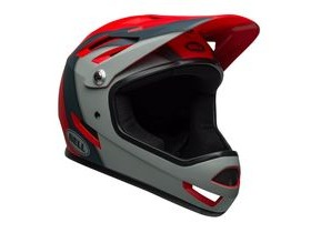 BELL Sanction MTB Full Face Helmet 2019: Presences Matte Crimson/Slate/Grey