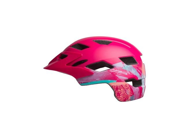 BELL Sidetrack Child Helmet 2019: Gnarly Matte Berry Unisize 47-54cm click to zoom image