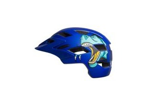 BELL Sidetrack Child Helmet 2019: T-rex Matte Blue Unisize 47-54cm