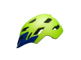 BELL Sidetrack Child Helmet 2019: Matte Bright Green/Blue Unisize 47-54cm