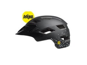 BELL Sidetrack Mips Youth Helmet 2018: Matt Black/Silver Fragments Unisize 50-57cm