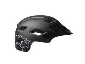 BELL Sidetrack Youth Helmet 2018: Matt Black/Silver Fragments Unisize 50-57cm