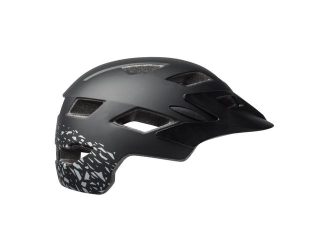 BELL Sidetrack Youth Helmet 2018: Matt Black/Silver Fragments Unisize 50-57cm click to zoom image