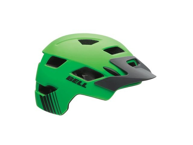 BELL Sidetrack Youth Helmet 2019: Matte Dark Green/Orange Unisize 50-57cm click to zoom image