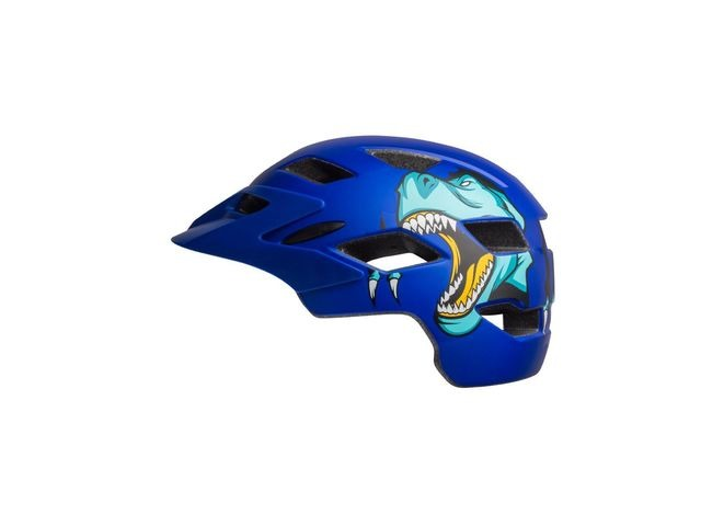 BELL Sidetrack Youth Helmet 2019: T-rex Matte Blue Unisize 50-57cm click to zoom image