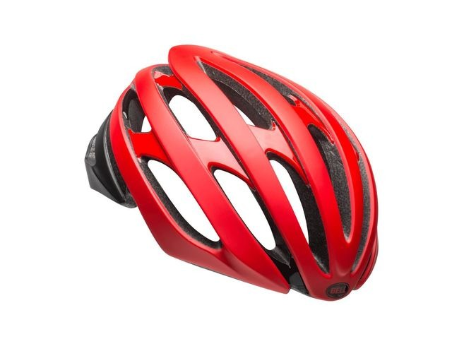 BELL Stratus Road Helmet 2018: Matt/Gloss Red/Black click to zoom image
