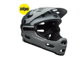 BELL Super 3r Mips MTB Helmet 2019: Downdraft Matte Grey/Gunmetal