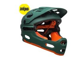 BELL Super 3r Mips MTB Helmet 2019: Matte Green/Orange