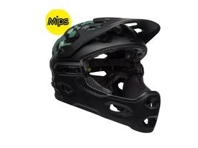 BELL Super 3r Mips MTB Helmet 2019: Oak Matte Black/Greens