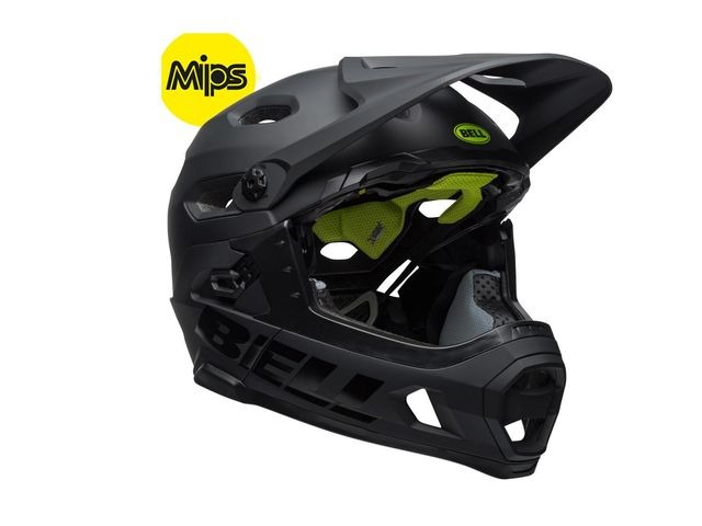 BELL Super Dh Mips MTB Helmet 2018: Matt/Gloss Black click to zoom image