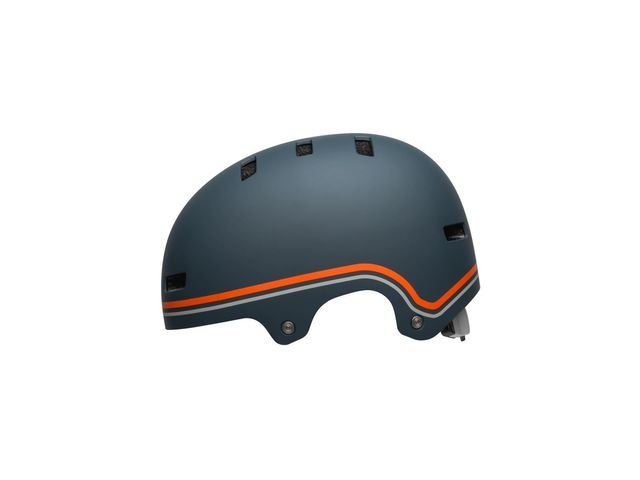 BELL Local BMX/Skate Helmet 2019: Classic Matte Slate/Orange click to zoom image