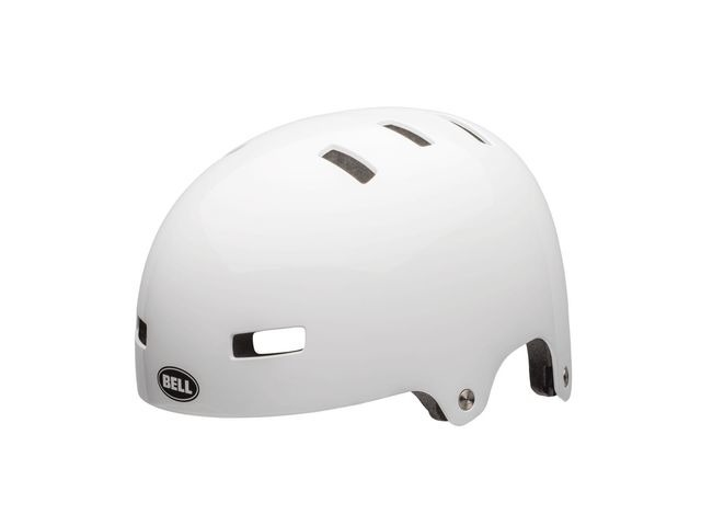 BELL Span Youth Helmet 2018: Gloss White click to zoom image
