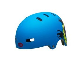 BELL Span Youth Helmet 2018: Matt Force Blue Octobeast