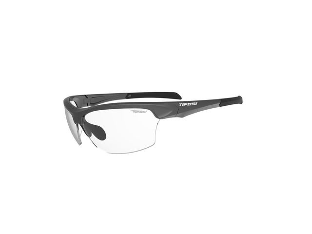 TIFOSI Intense Single Lens Sunglasses Matt Gunmetal/Clear click to zoom image