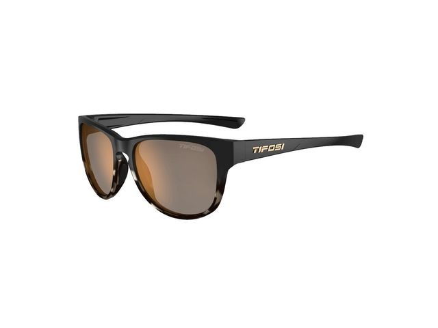 TIFOSI Smoove Polarised Single Lens Eyewear 2019 Satin Black Java Fade/Polarised Brown click to zoom image