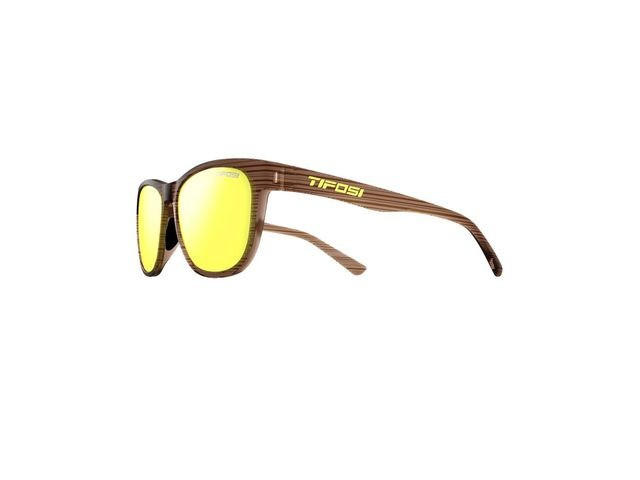 TIFOSI Swank Single Lens Eyewear 2019 Woodgrain/Smoke Yellow click to zoom image