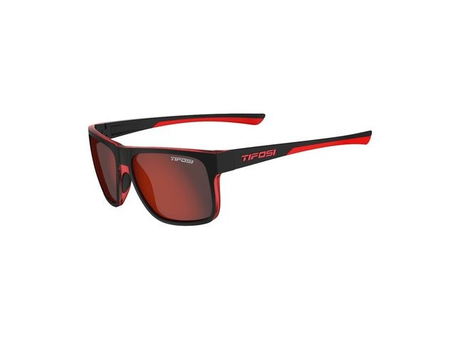 TIFOSI Swick Single Lens Eyewear 2019 Satin Black/Crimson/Smoke Red click to zoom image