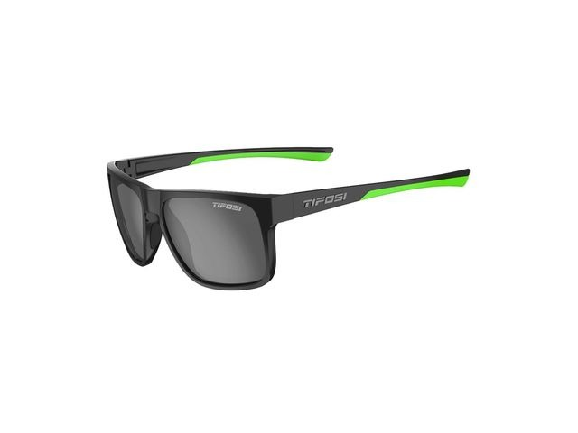 TIFOSI Swick Polarised Single Lens Eyewear 2019 Satin Black/Neon/Polarised Smoke click to zoom image
