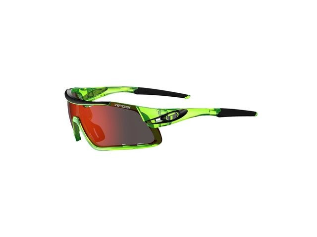 TIFOSI Davos Interchangeable Clarion Red Lens Eyewear 2019 Crystal Neon Green/Red Clarion click to zoom image