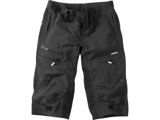MADISON Trail men's 3/4 shorts, black click to zoom image